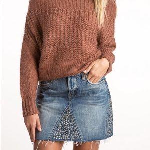 Embellished Mini Skirt